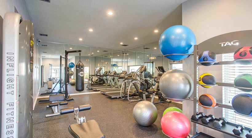 fitness center with ample machines
